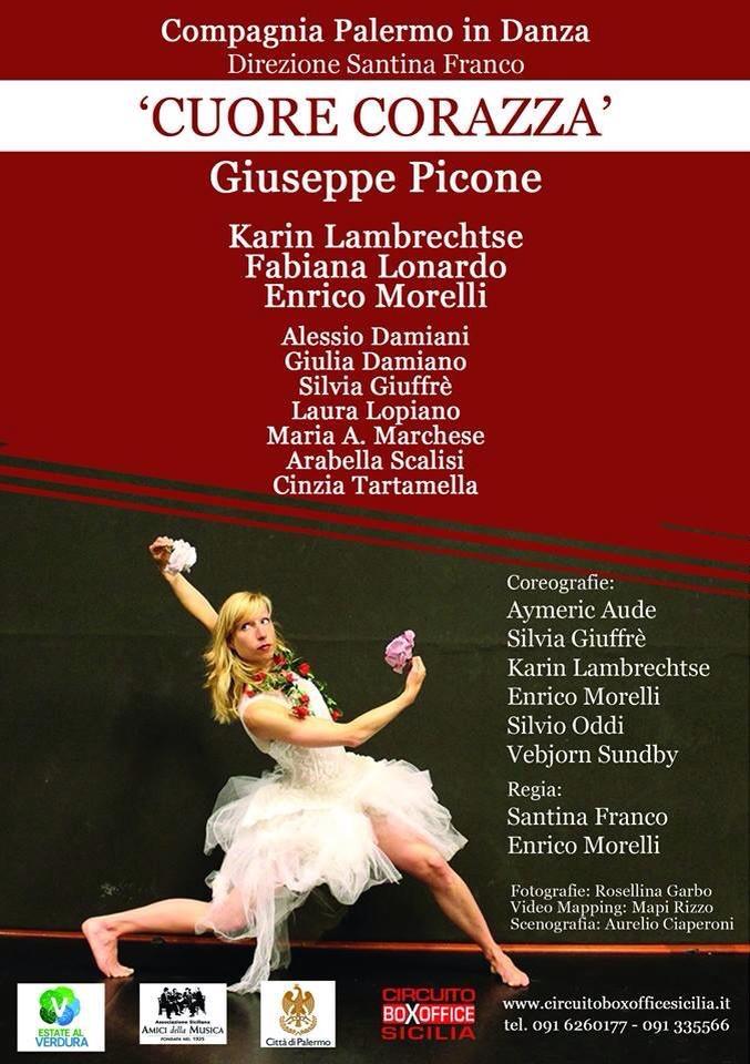 Palermo in Danze Karin Lambrechtse Flyer Cuore Corazza dans