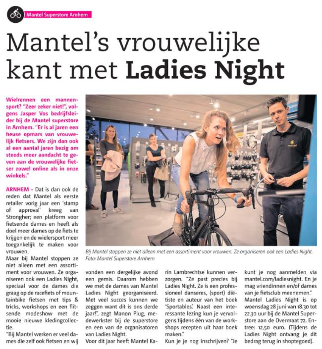 Mantel ladies night Karin Lambrechtse dietist voeding